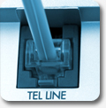 telephone cord connection