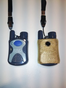 Medical Alert Button With Gold Cover