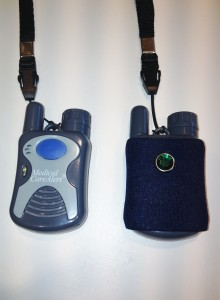 Medical Alert button with Blue Cover