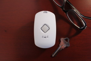 comparison of mobile medical alert system pendant to keys and glasses